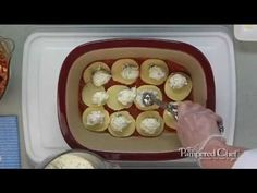 Green, White & Red Lasagna video....so easy!  Got Deep Covered Baker?  www.pamperedchef.biz/cookingwithcora