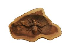 "12"" Pacific Dogwood Bee Carving"