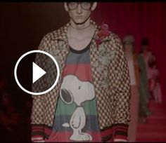 Gucci Men's Fall Winter 2016 Fashion Show: A Preview 2016-17: Look! It's Snoopy!!