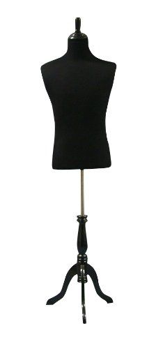 Black And Wood Table Top Stand Inflatable Male Torso Extra large Brown