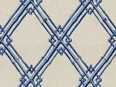 Brunschwig & Fils BAMBOO TRELLIS BLUE 8012123.5 - Brunschwig & Fils - Bethpage, NY