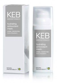 KEB hydrating antioxidant mask. 50ml  • hydrating • nourishing • firming    A hydrating and nourishing face mask enriched with vitamin-E and active ingredients that deeply moisturise and nurture your skin. Leaves the skin feeling hydrated and healthy.    Usage:   Apply over face, leave for 5-10 minutes. Rinse thoroughly with tepid water. 245 Kr