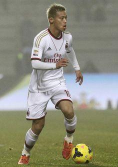 Keisuke HONDA(AC Milan) was Serie A debut, vs Sassuolo, 2014.01.12.