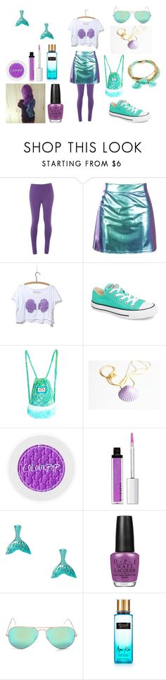 """""""Mermaid"""" by holly32196-1 on Polyvore featuring White Stuff, Converse, J. Valentine, My Little Pony, Givenchy, claire's, OPI, Ray-Ban, Victoria's Secret and Shashi"""
