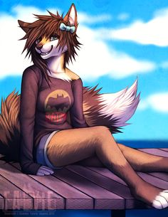 Female+wolf++Furries | On the Dock by falvie on deviantART