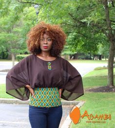 modern african fashion are beautiful Image# 5959 African Blouses, African Tops, African Wear, African Attire, African Print Dresses, African Fashion Dresses, Fashion Outfits, Ankara Fashion, African Prints