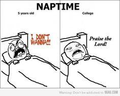 Never enough nap time.
