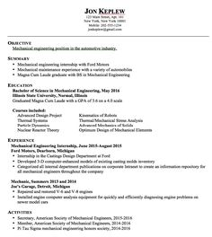 Mechanical Engineering Sample Resume Beauteous Example Of Bookkeeping Position Resume  Httpexampleresumecv .