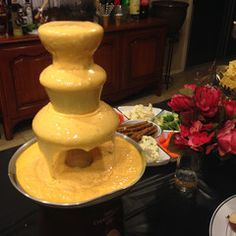 35 Best Cheese Fountain Bar Station Images Cheese Fountain