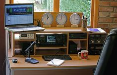 Jim W6LG demonstrates typical connections for a basic ham radio station; power supply, transceiver, microphone and key. In the next episode, other devices are added to the station