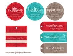 Perfect for winter gift tags.
