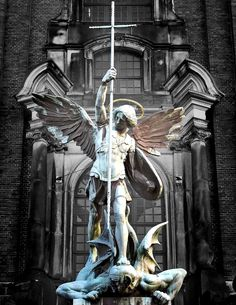 The Angelic Realm: Statue of Archangel Michael.