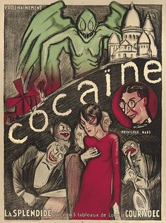 'Cocaine' 1923 show poster from the Century Guild Gallery, Los Angeles
