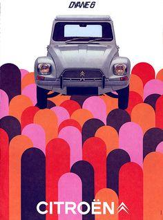 Citroën Dyane 6 Op Art Ad