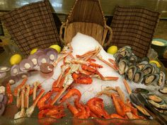 Cold cuts - seafood - an iftar buffet