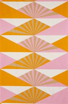 Photo of Sunrise, furnishing fabric, Lucienne Day, England. © Robin and Lucienne Day Foundation/Victoria and Albert Museum, London Lucienne Day, 60s Patterns, Vintage Patterns, Print Patterns, Floral Patterns, Design Patterns, Motifs Textiles, Textile Patterns, Patterns Background