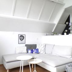 Ikea Soderhamn sofa w/ Bemz cover -- sofa + footstool [http://nordicdays.blogspot.com/2014/02/new-sofa-ikea-soderhamn.html]