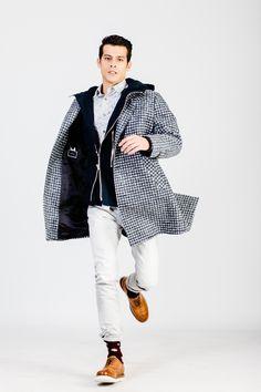 THE COAT. #hionidismnakind #mensfashion White Jeans, Cool Outfits, Mens Fashion, Coat, Pants, Shopping, Clothes, Moda Masculina, Trouser Pants