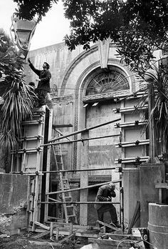 Demolition of the original entrance to the Hawke's Bay Art Gallery and Museum, 17 Aug gifted by the Daily Telegraph, collection of Haw. The Daily Telegraph, Bay Photo, Entrance, Art Gallery, Lens, Museum, Explore, The Originals, Collection