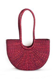 No. 6 - Dark Red Half Moon Bag | BONA DRAG