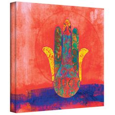 Art Wall 'Hand of Fatima' by Elena Ray Painting Print on Canvas & Reviews | Wayfair