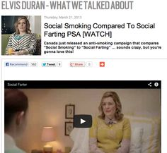 Social Smoking Compared To Social Farting PSA [WATCH]