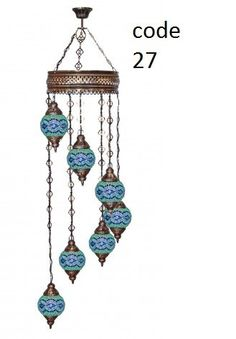 Turkish hand made mosaic lamp  with a set of by DervishHandicrafts