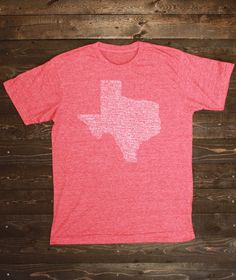 Texas Towns T-Shirt - Men's Red #shoptwt