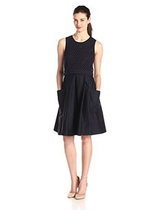 Eliza J Women's Sleeveless Eyelet Popover Dress, Navy, 6 Eliza J http://smile.amazon.com/dp/B00T9LR8PG/ref=cm_sw_r_pi_dp_OZSkvb0E4P9A4
