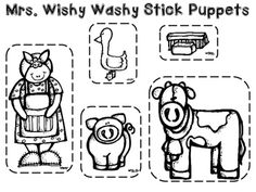 retelling template for Mrs. Wishy Washy (and other