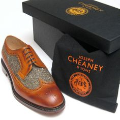 Joseph Cheaney & Sons, Brogue in Burnished chestnut with Donegal Tweed