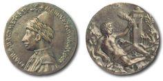 Constanza de Ferrara'nın Bronz döküm (genç) Mehmed Bey Madalyonu