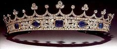 Queen Victoria's Sapphire Coronet from Great Britian, now in the family of the Earls of Harewood, descendents of HRH the Princess Royal, Countess of Harewood, granddaughter of Queen Victoria