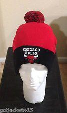 CHICAGO BULLS KNIT POM BEANIE - Red & Black Color with POM  -NBA