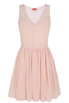 Pretty in pink Sheer Gathered Lace Skater Ballerina V-Neck Chiffon Dress Super Cute Dresses, Trendy Dresses, Simple Dresses, Nice Dresses, Casual Dresses, Short Dresses, High Street Bridesmaid Dresses, Cheap Bridesmaid Dresses, Bridesmaids