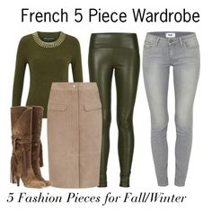 """""""French 5 Piece Wardrobe - 5 Fashion Items"""" by charlotte-mcfarlane ❤ liked on Polyvore featuring Paige Denim, Getting Back To Square One, French Connection, Chloé, women's clothing, women, female, woman, misses and juniors"""