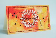 Stamped watercolour card by Anski