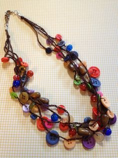 Crocheted Button Necklace via Etsy