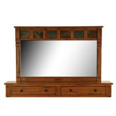 Sedona Rustic Oak Mirror | HOM Furniture