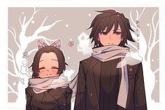 Giyu x Shinobu - Women X Anime Angel, Anime Demon, Manga Anime, Anime Art, Demon Slayer, Slayer Anime, Fanart, Gekkan Shoujo, Ship Art