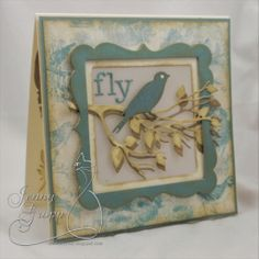 One Krafty Kat: Impression Obsession - Spring Die Hop 2014 - Day Bird Cards, Butterfly Cards, Sympathy Cards, Greeting Cards, Sparrow Bird, Crazy Bird, Impression Obsession, Bird On Branch, Little Birds