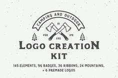 Camping outdoor logo creation kit  @creativework247