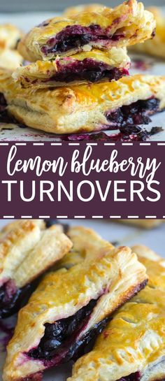 Looking for best mixture of sweet and tart! Try this recipe. These flaky lemon blueberry turnovers are made with frozen puff pastry so they're easy to make. They're fill with fresh blueberries lime juice and zest and baked to golden brown perfection. Puff Pastry Desserts, Frozen Puff Pastry, Puff Pastry Recipes, Tart Recipes, Baking Recipes, Puff Pastries, Blueberry Recipes Puff Pastry, Blueberry Turnovers, Blueberry Desserts