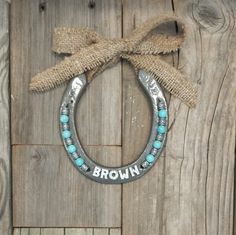 Personalized Name Horseshoes for Teen Girl Bedroom Decor, Personalised Horse Shoe for Country Western Home, Daughter, Teenager NP2015-burlap by EECustomHorseShoes on Etsy