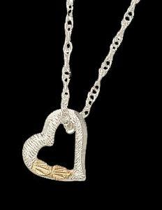 Black Hills Gold Floating Heart Necklace