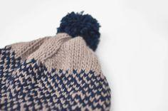 hand-knit fair isle hat