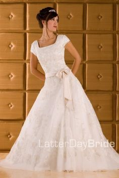 modest wedding gowns Hollywood