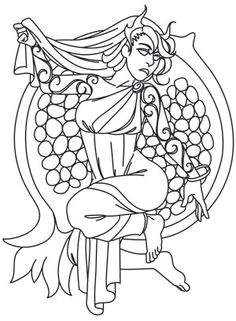 Greek Gods - Persephone | Urban Threads: Unique and Awesome Embroidery Designs