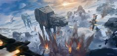 Star Wars Battle of Hoth by Ray Jin - Ideas of Ray Star Wars - - Star Wars Battle of Hoth by Ray Jin Star Wars Fan Art, Rpg Star Wars, Star Wars Concept Art, Star Wars Ships, Star Citizen, Images Star Wars, Star Wars Pictures, Starwars, Mustang