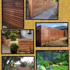 Loving these horizontal fence panels!!! My dog would not be able to attack through these ;)